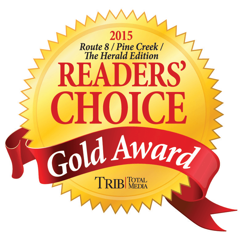 2015 Trib Total Media Readers' Choice Awards - Gold Winner